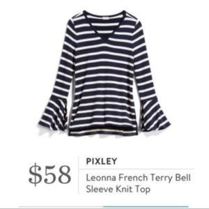 PIXLEY Leonna French Terry Bell Sleeve Top Small